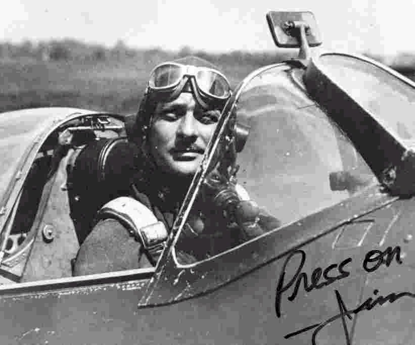 Major Haun in his Spitfire in 1943