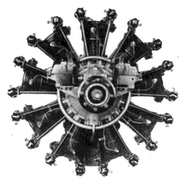 Early Wright Whirlwind engine
